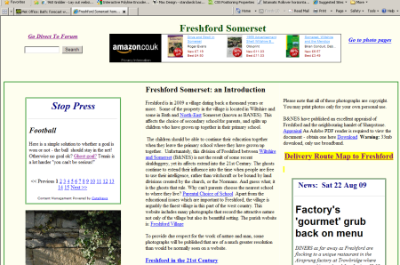 Freshford Somerset community website
