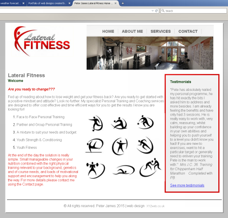 Peter James'Lateral Fitness website