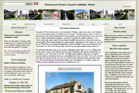 Westwood Parish Council website